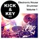 Kick & Key Electronic House Drummer, Vol. 1