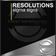 Resolutions Sigma Signs