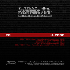X-Pose - We Are Being Colonized (Datablender)