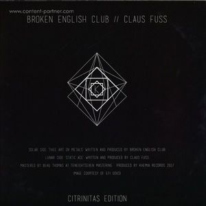 Broken English Club / Claus Fuss - Citrinitas Edition