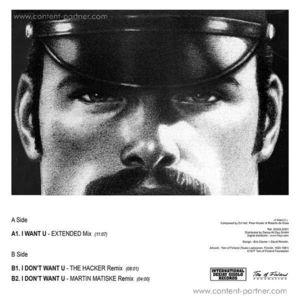 DJ Hell - I Want U (The Hacker / Martin Matiske Re