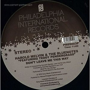 Harold Melvin & The Blue Notes Feat. Ted - Bad Luck / Don't Leave Me This Way (tom  (Philadelphia International Records)