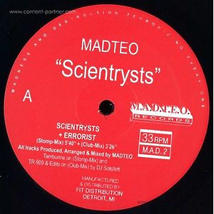 Madteo - Scientrysts (M.A.D.T.E.O. Records)