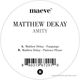 Matthew Dekay Amity Ep (Back in)