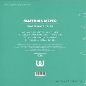 Matthias Meyer, Yokoo & Retza, Gorje Hew - Watergate 20 EP