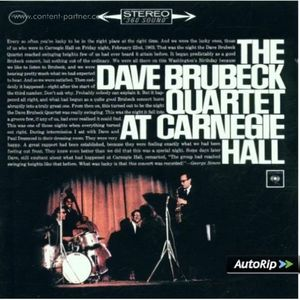 The Dave Brubeck Quartet - At Carnegie Hall (2LP reissue) (Doxy ACV)