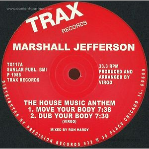 marshall jefferson - The House Music Anthem (trax records)