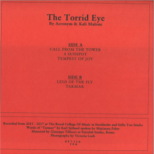 Acronym & Kali Malone - The Torrid Eye (Back)