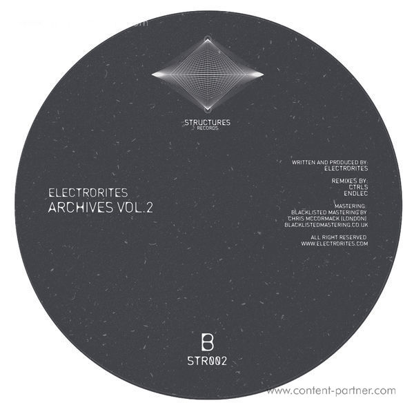 Electrorites - Archives Vol. 2 (CTRLS, Endlec Remixes) [Colored] (Back)