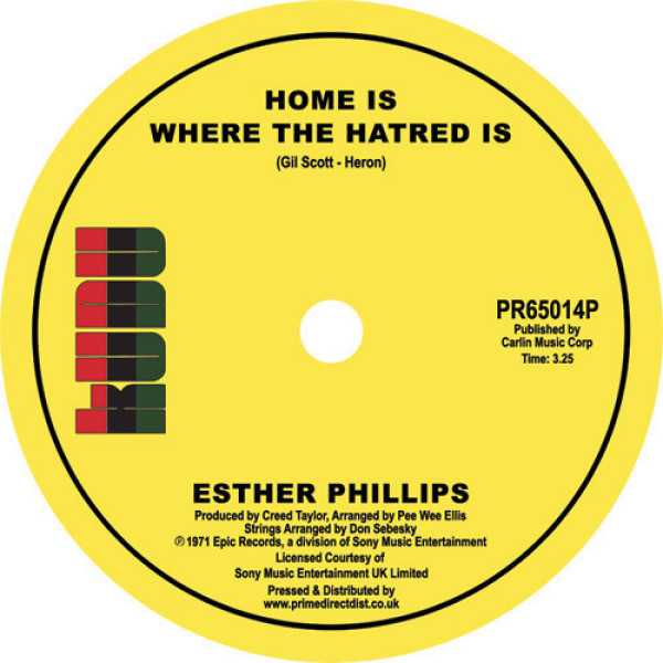 Esther Phillips - Home Is Where the Hatred Is / I've Never Found a M