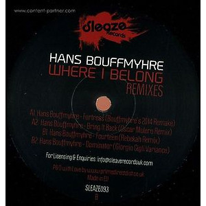 Hans Bouffmyhre - Where I Belong ' The Remixes