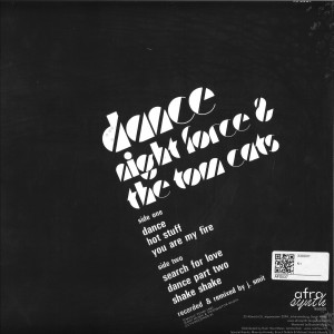 Night Force, The Tom Cats - Dance (Back)