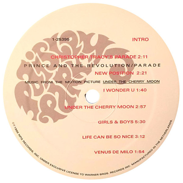 Prince - Parade - 180G LP Re-issue (Warners) (Back)
