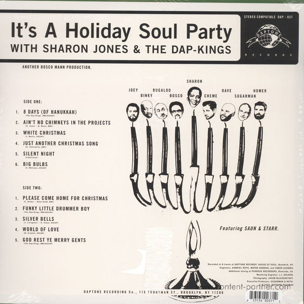 Sharon Jones & The Dap Kings - It's A Holiday Soul Party! (Red Vinyl!) (Back)