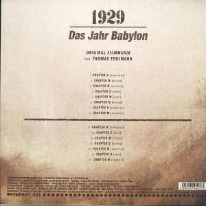 Thomas Fehlmann - 1929 - Das Jahr Babylon (Back)