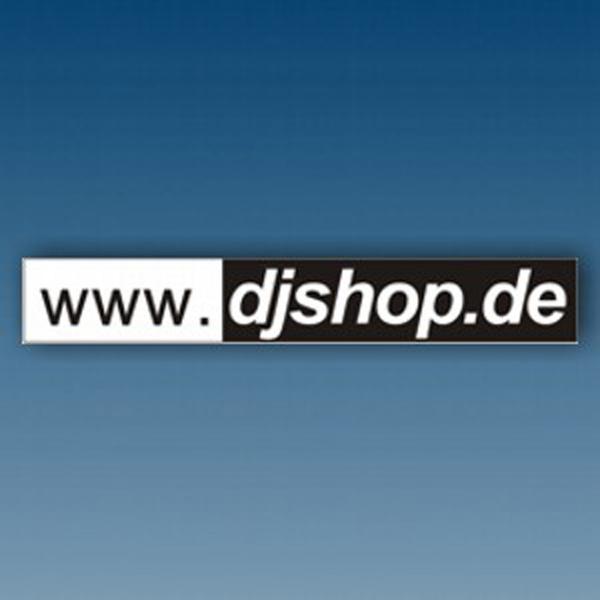 aufkleber - dj shop (www.djshop.de) schwarz/weiss