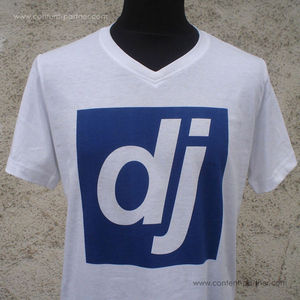 djshop t-shirt - blaues dj logo / größe XL