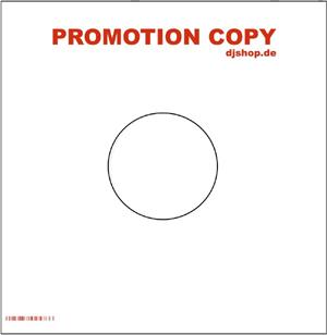 vinyl-cover - weiss mit promo aufdruck