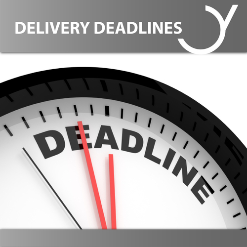 Delivery Deadlines Music 2018