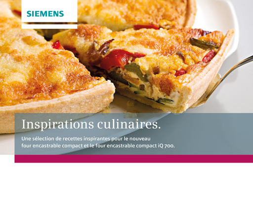 BSH Hausgeräte GmbH - Inspirations culinaires