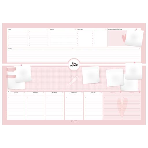 Lisa Wirth - Schreibtischunterlage in pink/rosa / A2