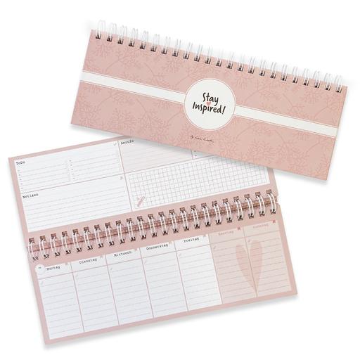 Lisa Wirth - Tischkalender rosa / Wochenkalender im Q